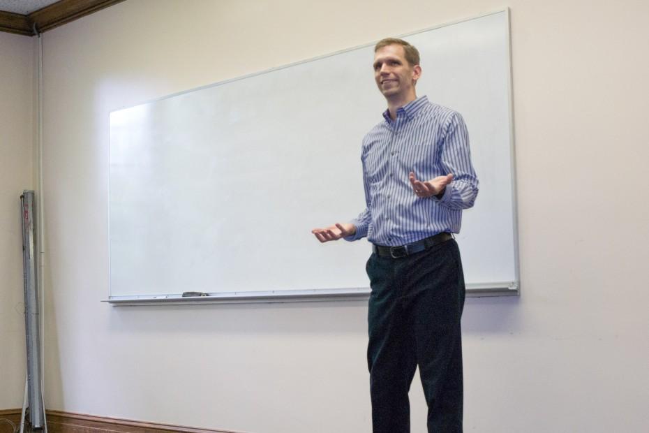 Derek presenting at a workshop